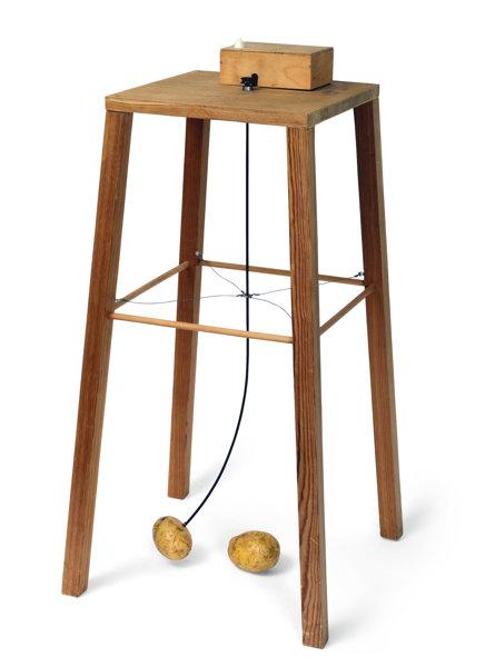 Sigmar Polke-Apparat, Mit Dem Eine Kartoffel Eine Andere Umkreisen Kann (Apparatus Whereby One Potato Can Orbit Another)-1969