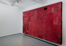 Simon Callery - Cadmium Red Deep Flat Painting series - Image courtesy of FOLD Gallery and the artist