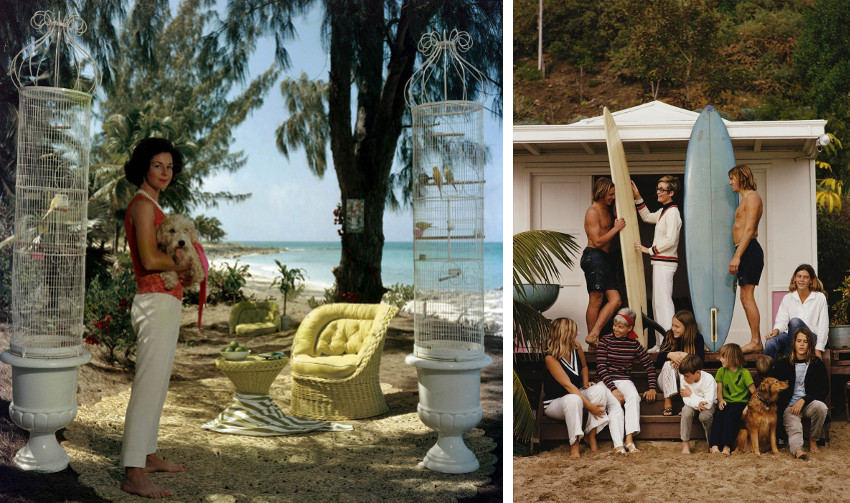 Slim Aarons was free to shot anywhere he liked, at the pool, palm beach, sea, poolside, hotel, house, fashion shows, in the villa. Slim was free to drive anywhere and capture beautiful images