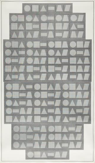 All One, Two, Three, Four, Five & Six Part Combinations of Six Geometric Figures,-1980