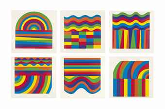 Sol LeWitt-Arcs and Bands in Colour-1999