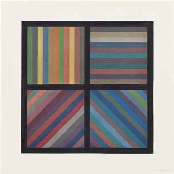 Sol LeWitt-Bands of Lines in Four Directions (Square Plate)-1993
