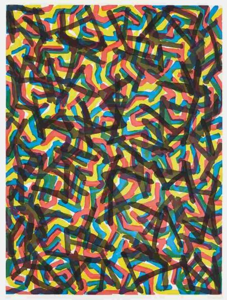 Sol LeWitt-Irregular, Angular Brushstrokes-1997
