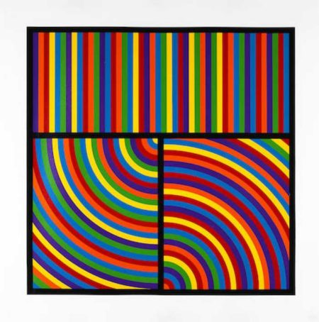 Sol LeWitt-Color Bands, Plate #5-2000