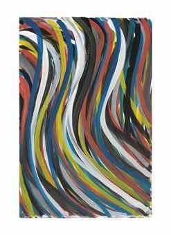 Sol LeWitt-Wavy Brush Strokes-1995