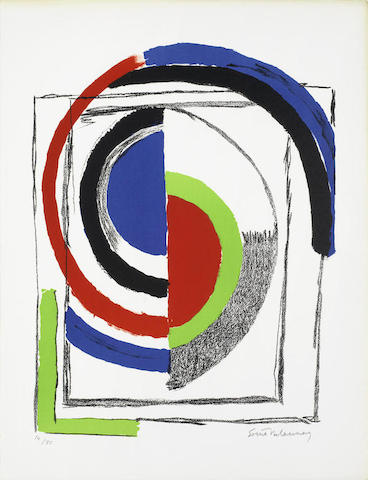Sonia Delaunay-Abstract Composition with Semi-Circles-