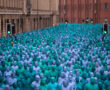 Mass Naked Art Event by Spencer Tunick turned Hull Blue!