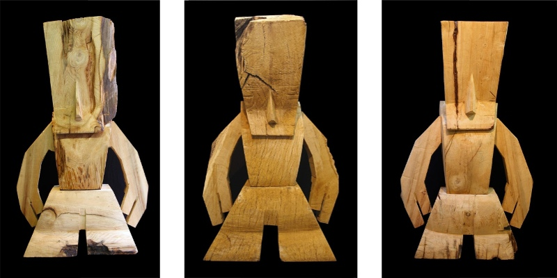Steph Cop - ARO - left - Rugged Cedre Du Moyen Atlas, 2012 - center - Organum Chenedu Morvan, 2012 - right - Mighty Cedre, 2012 - Courtesy of David Bloch Gallery