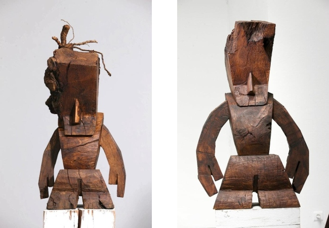 Steph Cop - left - Root Wooden ARO 01, 2012 - right - Root Wooden ARO 05, 2012 - Copyright Steph Cop