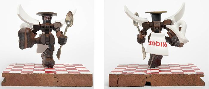 Stephen Ives - Espresso Transformer, Hero series, 2013, photo credits - artist, toy sculpture