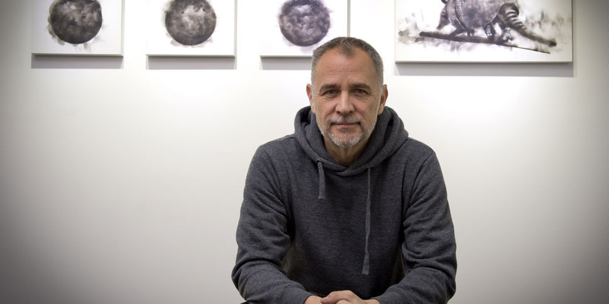 Steve Spazuk, artist, photo courtesy of Unique Gallery