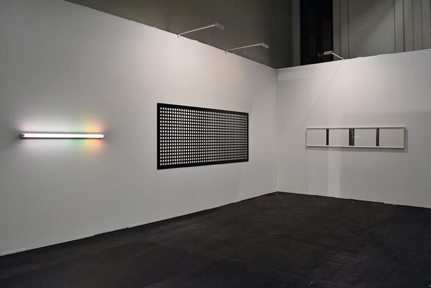 Stiftung Konzeptuelle Kunst presentation at ART.FAIR Cologne 2016 - Spencer Finch, Douglas  Allsop and Frank Gerritz in the background