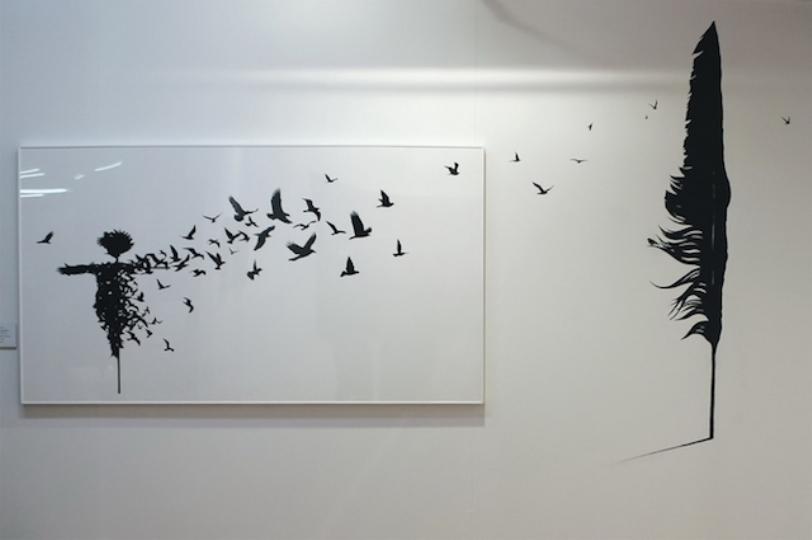Smaller piece on canvas