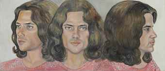 Sylvia Sleigh-Triple Head of Scott Burton-1973