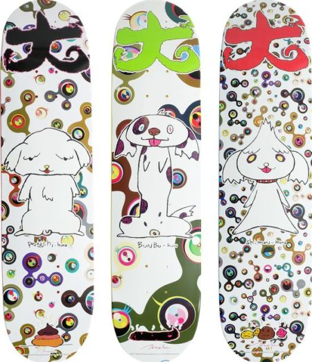 Takashi Murakami-A Suite of Three Skateboard Decks-2007