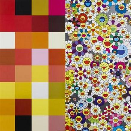 Takashi Murakami-Acupuncture-Flowers (Checkers)-2008