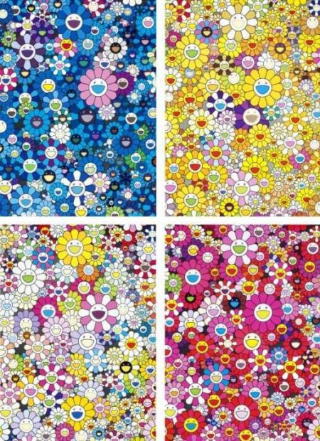 Takashi Murakami-An Homage To IKB 1957 B, An Homage To Monogold 1960 B, An Homage To Yves Klein, Multicolor B, An Homage To Monopink 1960 B-2012