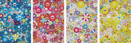 Takashi Murakami-An Homage to IKB 1957 C, An Homage to Monopink 1960 C, An Homage to Yves Klein, Multicolor D, An Homage to Monogold 1960 D-2012