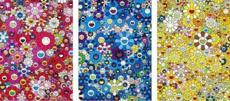 Takashi Murakami-An Homage to Monopink 1960 A, An Homage to IKB 1957 C, An Homage to Monogold 1960 C-2012