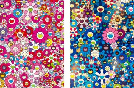 Takashi Murakami-An Homage to Monopink B, An Homage to IKB 1957 B-2012