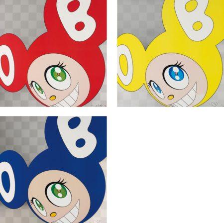 Takashi Murakami-And Then And Then And Then And Then And Then (Red); And Then And Then And Then And Then And Then (Yellow); And Then And Then And Then And Then And Then (Blue)-1999