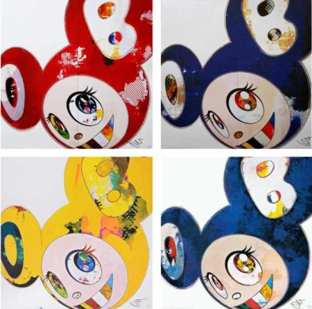 Takashi Murakami-And Then (Blue 3000), And Then (Red 3000), And Then (Yellow Universe), And Then x6 Blue-2013