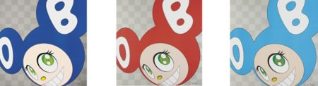 Takashi Murakami-And Then (Blue, Red, Aqua Blue)-1999
