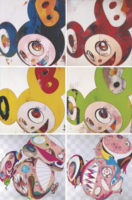 Takashi Murakami-And Then (Cream, Lemon Pepper, Kappa), And Then, When That's Done...... I Change. What I Was Yesterday Is Cast Aside,Like An Insect Shedding Its Skin, Melting DOB D, Melting DOB E-2010