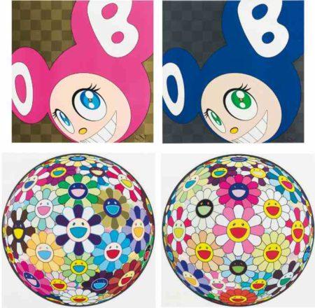 Takashi Murakami-And Then (Pink), And Then (Blue), Flower Ball (3-D) Kindergarten, Flowerball Pink-2007
