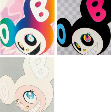 Takashi Murakami-And Then (Rainbow, Black, White)-2005