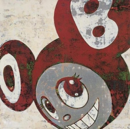 Takashi Murakami-And Then (Red and Green DOB)-1996