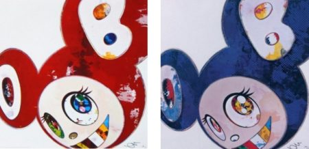 Takashi Murakami-And Then x 6 (Red- The Superflat Method); And Then x 6 (Blue-The Superflat Method)-2013