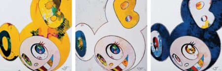 Takashi Murakami-And Then x6 (Blue, Yellow, White - Blue and Yellow Ears) The Superfat Method-2013