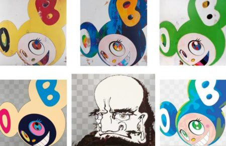 Takashi Murakami-And then (Lemon Pepper, Cream, Green Truth, Platinum), My arms and legs rot off..., Melting DOB A-2008