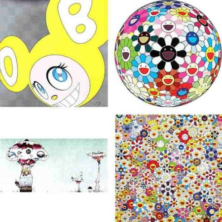 Takashi Murakami-And then (Yellow), Flowerball Blood (3-D) V, Hypha will cover the world, little by little..., Flowers, Flowers, Flowers-2011