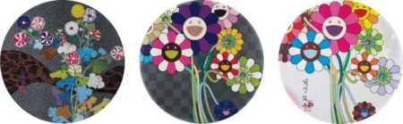 Takashi Murakami-Architect of the Heart; Purple Flowers in a Bouquet; Even the Digital Realm Has Flowers To Offer-2013