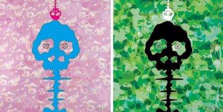 Takashi Murakami-Bokan (Camouflage Pink, Camouflage Green)-2011
