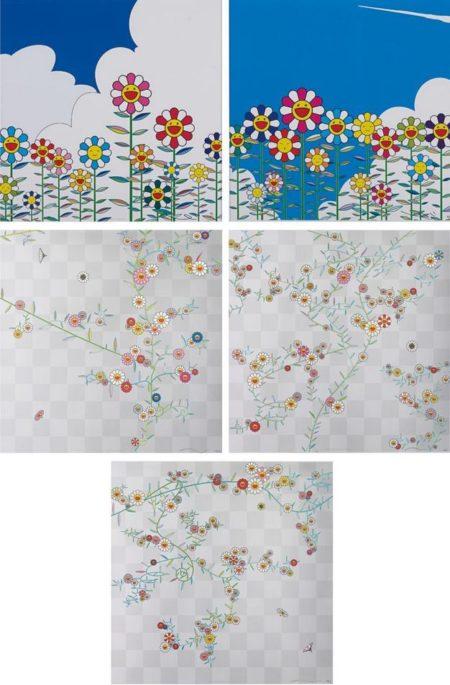 Takashi Murakami-Cosmos, Cube, Cube 2, Flower, Flower 2-2010