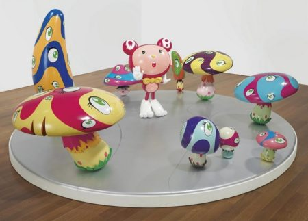 Takashi Murakami-DOB in the Strange Forest (Red DOB)-1999