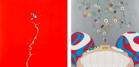 Takashi Murakami-Doves and Hawks, DOB Flower-2001