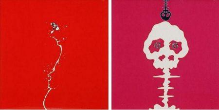 Takashi Murakami-Doves and Hawks, Mushroom Bomb Pink-2001
