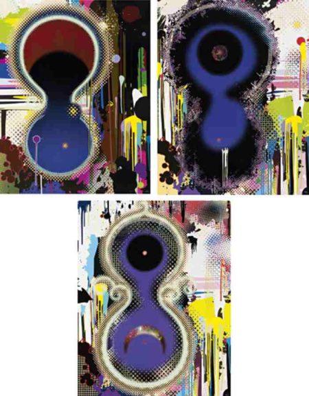 Takashi Murakami-Dumb Compass, Genome No. 10^7x2^122, NGC 2371-2 (Gemini Nebula)-2009