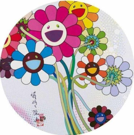 Takashi Murakami-Even the Digital Realm has Flowers to Offer-2010