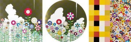 Takashi Murakami-Floating Campsite, Warm And Sunny, Acupuncture-Flowers-2011