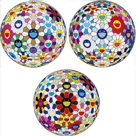 Takashi Murakami-Flower Ball (3-D) Autumn 2004; Flower Ball (Lots of Colors); Flower Ball (3-D) Sequoia sempervirens-2013