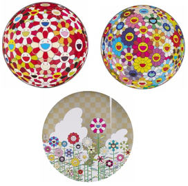 Takashi Murakami-Flower Ball (3D), Flower Ball (3D) Goldfish Colors, Floating Camping-2011