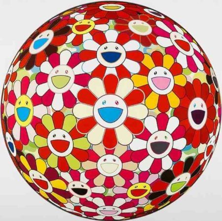 Takashi Murakami-Flower Ball (3D) Goldfish colors-2010