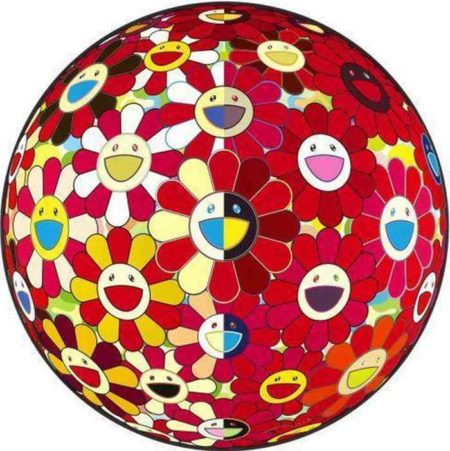 Takashi Murakami-Flowerball Red (3D) Magic Flute-2010