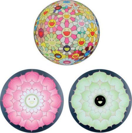 Takashi Murakami-Flower Ball (3D) Sunflower, Lotus Flower Pink, Lotus Flower White-2011
