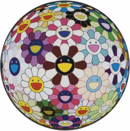 Takashi Murakami-Flower Ball Brown-2010